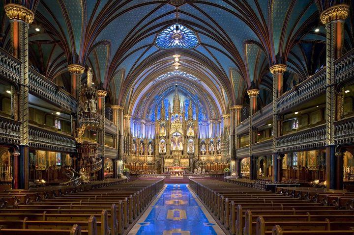 ▲蒙特婁聖母大教堂。 圖:Notre-Dame Basilica, Stéphan Poulin╱提供
